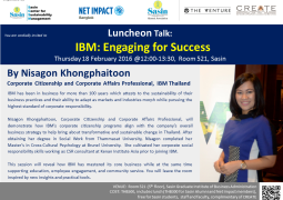 Luncheon Talk: IBM: Engaging for Success
