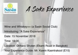 Sasin Wine & Whiskey++Club: A Sake Experience