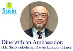 Dine with an Ambassador: His Excellency Shiro Sadoshima, The Ambassador of Japan